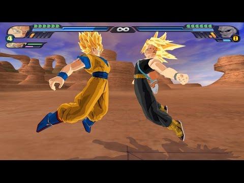 Trunks and Goku potaras Fusion in Super Saiyans (DBZ Budokai Tenkaichi 3 mod)
