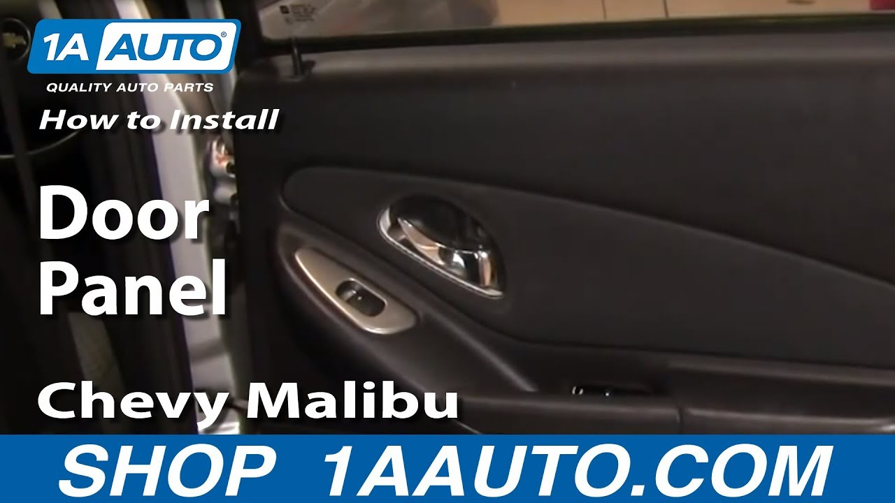 how to install replace rear door panel 04 08 chevy malibu youtube. Black Bedroom Furniture Sets. Home Design Ideas