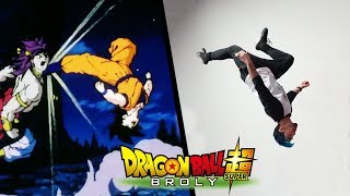Stunts From Broly In Real Life (Dragon Ball Super)