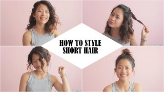 How To Style Short Hair (Lob) | Easy Hairstyles