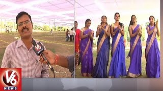 Cultural Artists Rehearsal For TRS Plenary At Kompally   Hyderabad