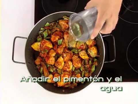 Receta de paella con conejo (Cocina andaluza saludable)