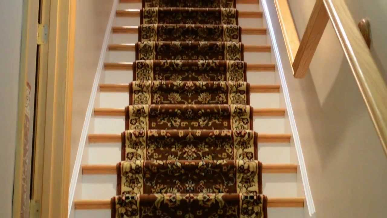 Village Carpet Oriental Stair Runner Installation