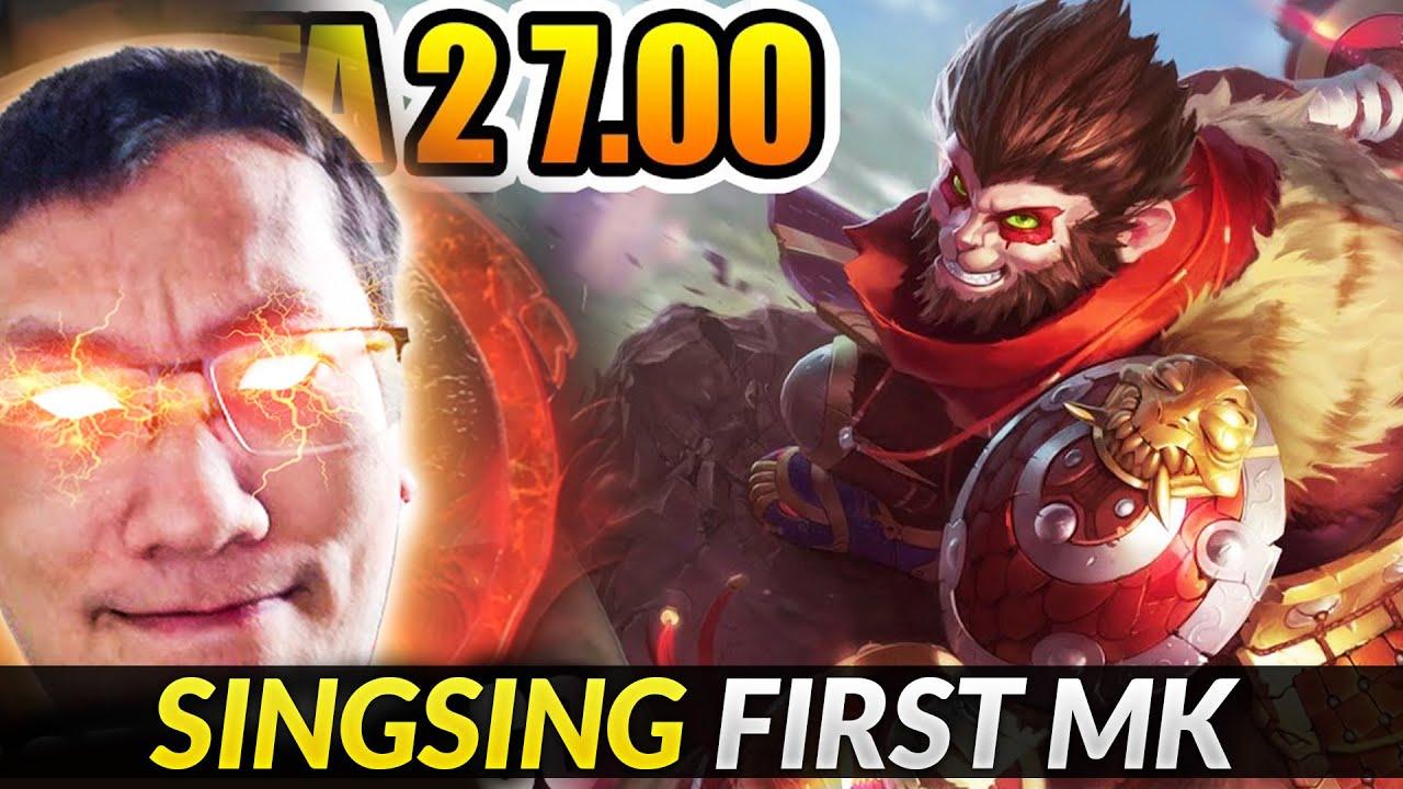 Dota 2 7.00 Monkey King First All Pick Gameplay SingSing Dota 2