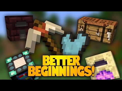 Minecraft Mods   Better Beginnings Mod   New Items & Recipes! (Mod Showcase)