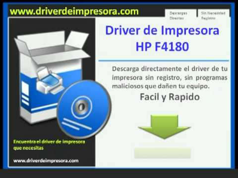 Descargar Driver de Impresora hp deskjet f4180