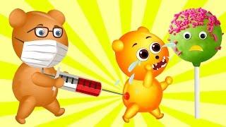 Mega Gummy Bear Baby with Broken Teeth In Dentist Finger Family For Kids | Gummy Bear Fun