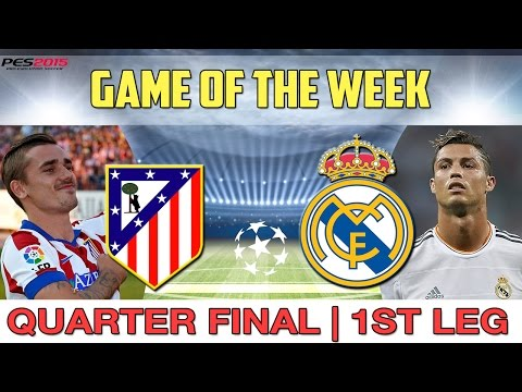 [TTB] PES 2015 - Atletico Madrid Vs Real Madrid - Game of the Week - Champions League Quarter Final