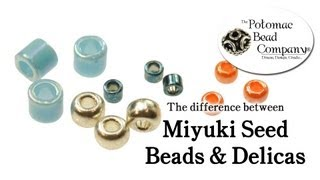 Differences Between Miyuki Delicas and Seed Beads