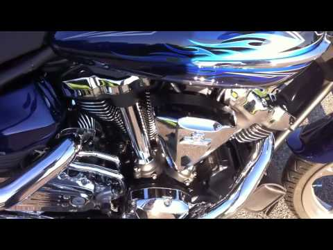 Yamaha Raider 2010 S, LA CHOPPERS EXHAUST PIPES. Video