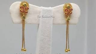 Light Weight Gold Chain Earrings Designs With Given Ing Link At End Of The Video Vidozee