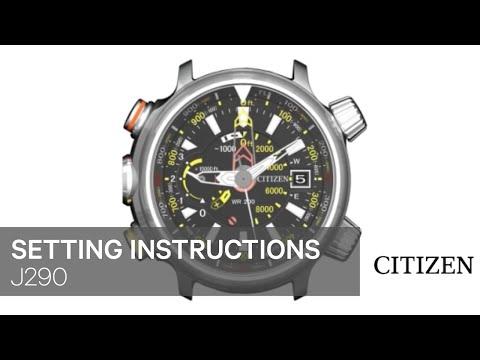 CITIZEN J290 Setting Instruction