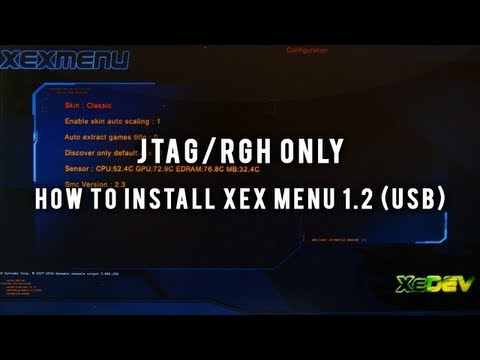 Jtag rgh Tutorials - How To Install Xex Menu 1.2 (usb + Download) video