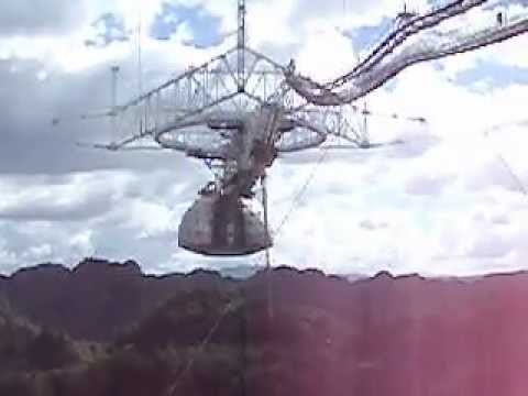 Arecibo antenna moving