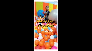 A Lot of Ball Pit for Toddler & Ride Odong-odong Kids Toy Car - Play Balls Pit Show & Mini Merry.
