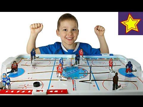 Игра настольный хоккей распаковка игрушки Table hockey unboxing