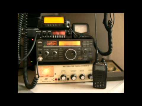 My 1st Amateur Ham Radio & CB HF Base Station Kenwood Icom MFJ Kernow  Rigs
