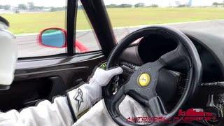 Oktane Track Day Onboard Ferrari F50 acceleration on track Interlagos