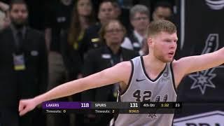 Davis Bertans 13 pts vs. Lakers - December 7, 2018