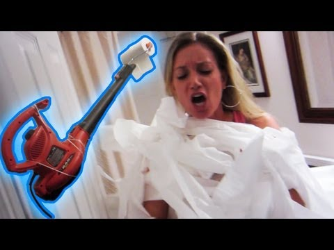 Toilet Paper Gun Prank video