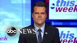 'It is weird' that Giuliani went to Ukraine: GOP Rep. Matt Gaetz | ABC News