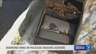 Diamond ring in package washes ashore