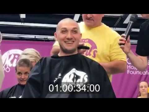 Jesse Rasmussen agreed to shave his head for Clips for Kids | Children's Hospital Foundation
