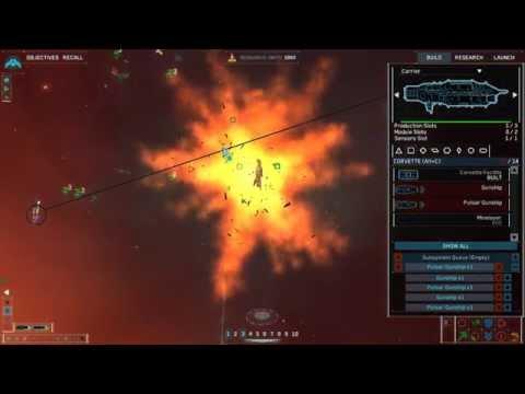 Homeworld Remastered   Intense Gameplay   Human vs 4 Excellent CPU players   DEATHRAT69