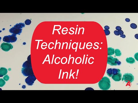Amazing Clear Cast: Alcohol Ink Technique | Alumlite