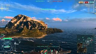 World of Warships tier 4 Japanese Cruiser - Kuma