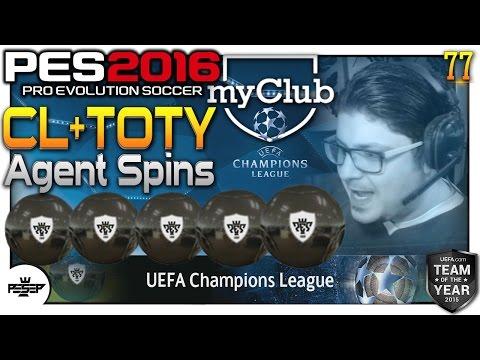 PES 2016 myClub UEFA Champions League + TOTY Ball opening!