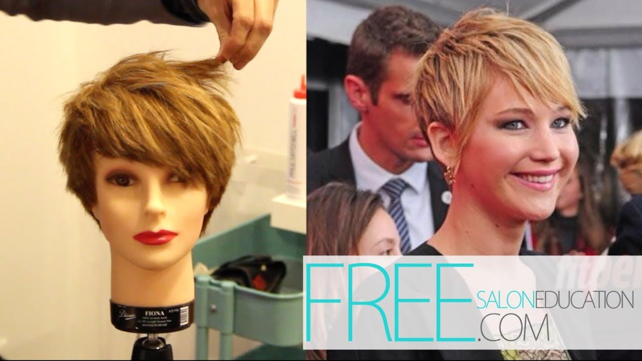 How to Cut Pixie Haircut Jennifer Lawrence