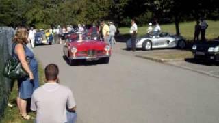 5éme concentration des cabriolets Belfort : Facel Vega Facel III Facellia et Salmson S4 cabriolet