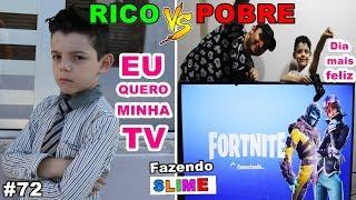 RICO VS POBRE FAZENDO AMOEBA / SLIME #72