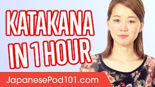 Learn ALL Katakana in 1 Hour - How to Write and Read Japanese