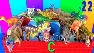 DINOSAUR Box 22 TOY COLLECTION Dinosaurs LETTER C Dino - Kids Toy Review Unboxing SuperFunReviews