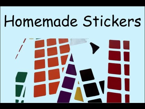 How to: Make Homemade Stickers For your rubiks cube!