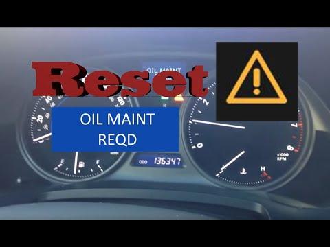 How to Reset Oil Maintenance Required Light in 2006-2014 Lexus IS250