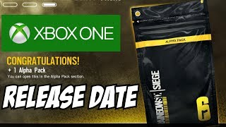 Rainbow Six Siege Xbox One ALPHA PACKS RELEASE DATE! July 24th 2017