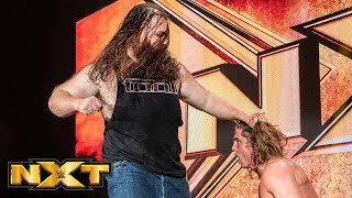 Killian Dain smashes Riddle through the entrance stage: WWE NXT, July 17, 2019