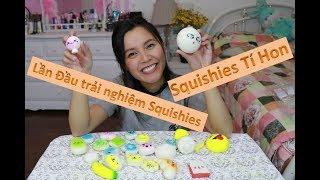🙈Lần Đầu trải nghiệm chơi Squishies -😢 Bắp mua nhầm Squishies dỡm😭??? 😍25 em Squishies tí hon 😍