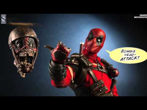 Marvel Comics Sideshow Collectibles Deadpool 1/6 Scale Figure Pics & Details!
