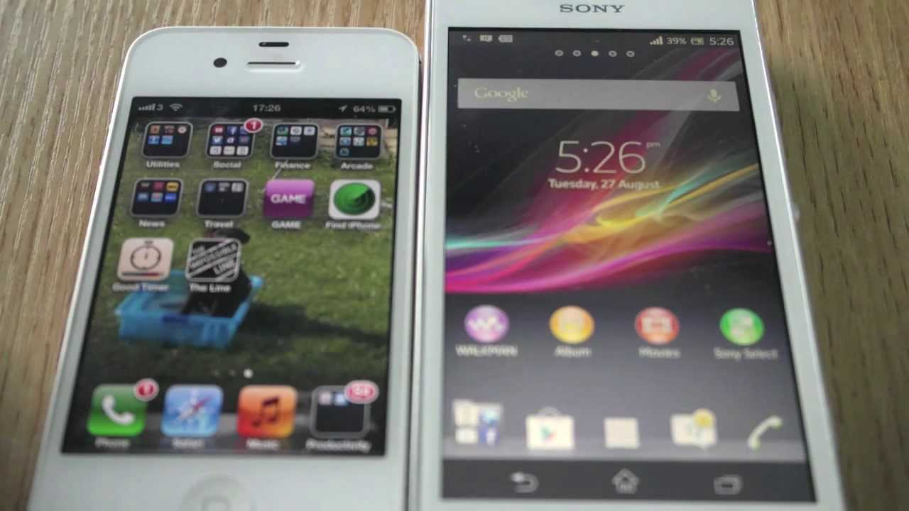 Sony Xperia SP vs iPhone 4s Boot test - YouTube