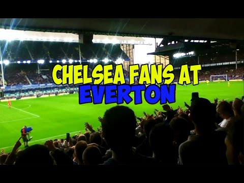 Chelsea fans at Everton - Diego Costa Song