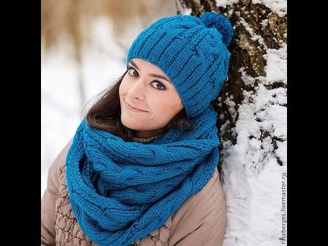 Вязаные шапочки и шарфы своими руками 84