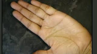 Female palm reading. Govt. Job line in female palm