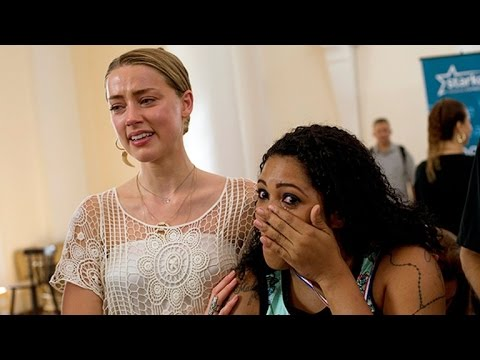 Amber Heard in Tears on Charity Outing With Johnny Depp