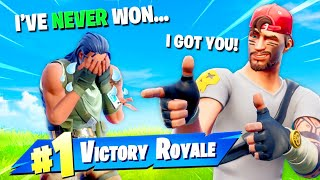 I got a 9 Year Old fan his 1st Victory Royale! (EMOTIONAL)