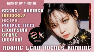 ranking the lead vocals of AESPA, SECRET NUMBER, STAYC, WEEEKLY, PURPLE KISS, WO