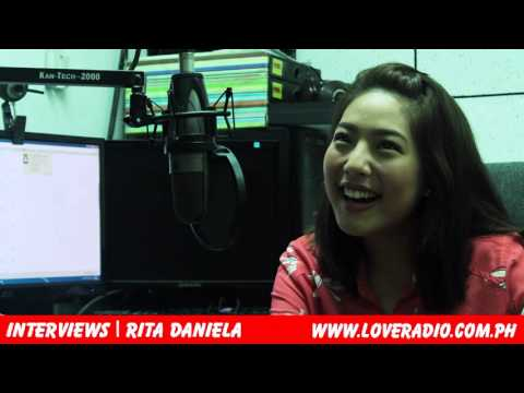Interview with Rita Daniela @ Love Radio Manila